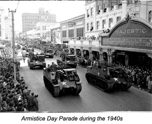 Armistice Day Parade during the 1940s