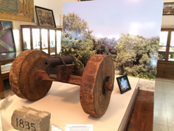 Cannon in the Gonzales Museum