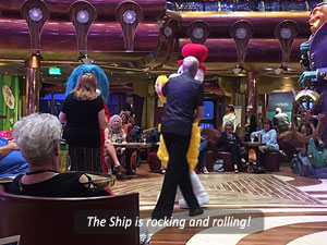 Dancing on the ship