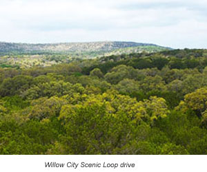 Scenic drive through Willow City Loop